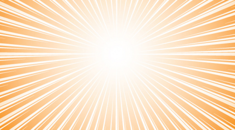 Vector de fondo con efecto ráfaga color naranja
