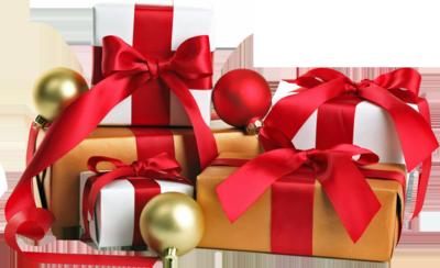Plantilla con cajas de regalos para Navidad