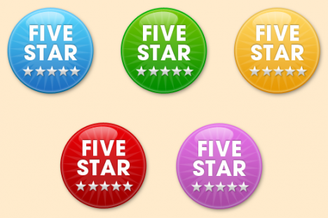 Medallones PSD con relieve y diferentes colores