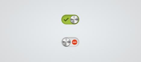 Plantilla de switch metálico en Photoshop