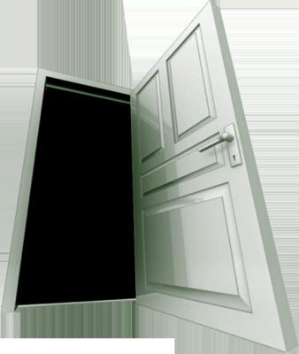 Plantilla de Photoshop con diseño de puerta 3D