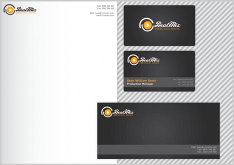 Plantilla de identidad corporativa con tarjetas personales y sobre para Photoshop