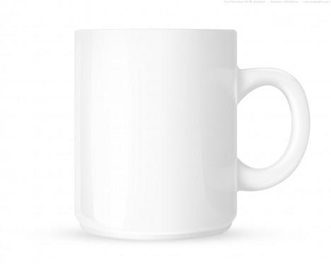 Plantilla de taza de café PSD
