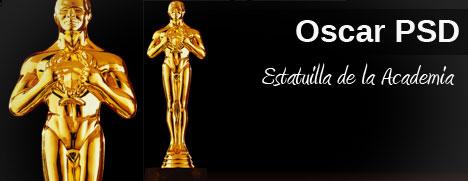 Plantilla de estatuilla de Oscar PSD