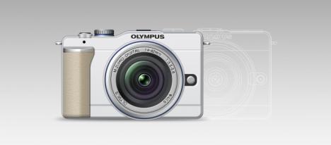 Plantilla Olympus Camera PSD