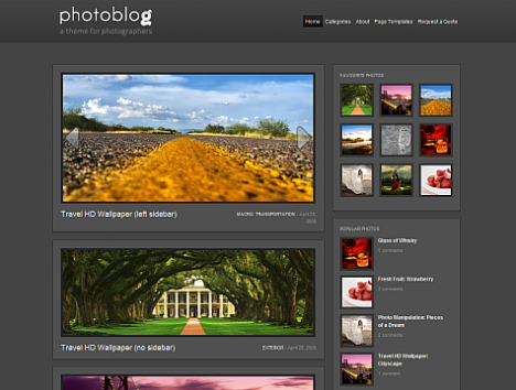 Plantilla WordPress para Fotos