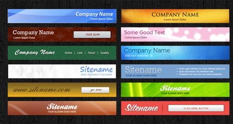 Plantilla de Banner Web para Photoshop Gratis
