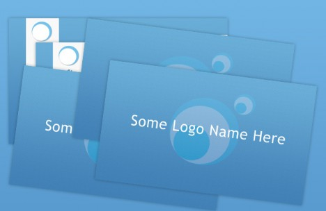 Plantilla de tarjetas personales azules para negocios en Photoshop CS5