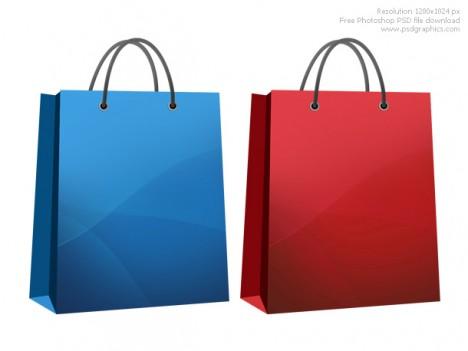 Plantilla bolsa PSD para tienda