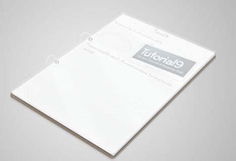 Plantilla PSD de cuaderno en 3D