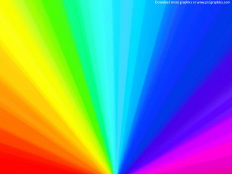 Plantilla de fondo PSD con colores de arcoiris para Photoshop