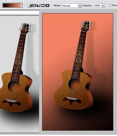 Plantilla de Guitarra PSD para Photoshop