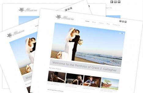 Plantilla minimalista para sitio web de fotografía sitio web de fotografía Photoshop HTML CS5