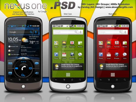Plantilla de Android PSD con Nexus One