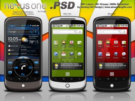 Plantilla de Android PSD con Nexus One
