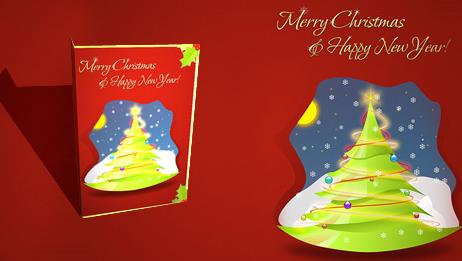 Plantillas de tarjetas navideñas para imprimir
