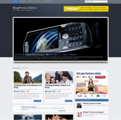 Sonex: Plantilla WordPress gratis con formato de revista