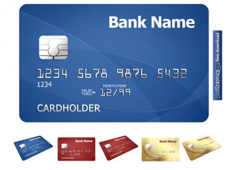 tarjetas de credito photoshop