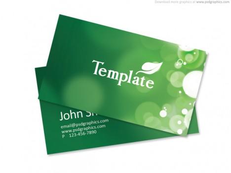 Plantilla de tarjeta personal ecológica con diseño de Photoshop