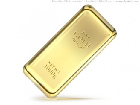 Plantilla de lingote de oro para Photoshop