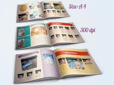 Plantilla para diseño de catálogos usando Adobe InDesign