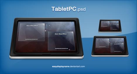 Plantilla de Tablet para Photoshop PSD