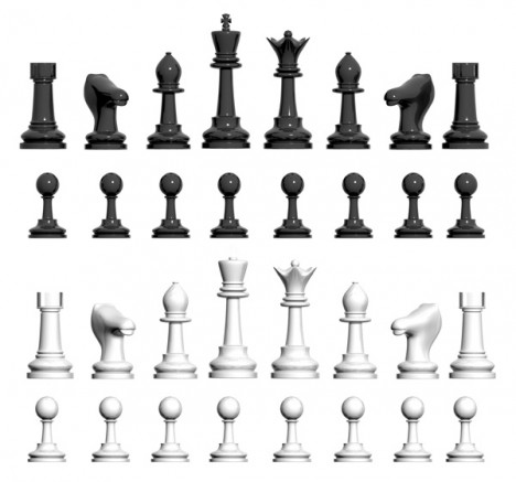 piezas ajedres