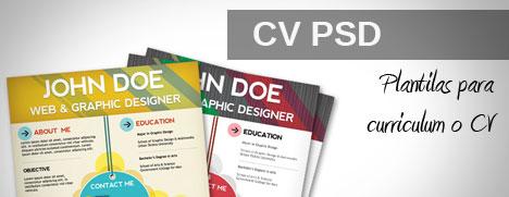 Plantilla de CV PSD para curriculum