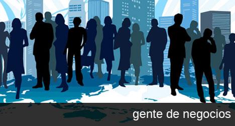 Plantilla con gente de negocios y empresarios