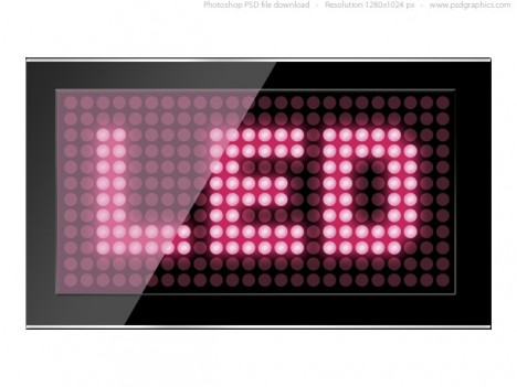 Plantilla LED para Photoshop PSD