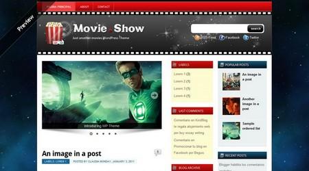 Plantilla WordPress para blog de películas o series de TV