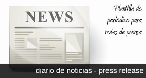 Plantilla de periódico con noticias para Photoshop