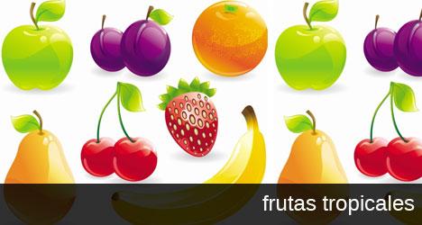 Plantilla de vectores con frutas para Illustrator