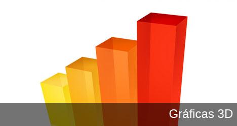 Plantilla de gráfica de negocios 3D PSD