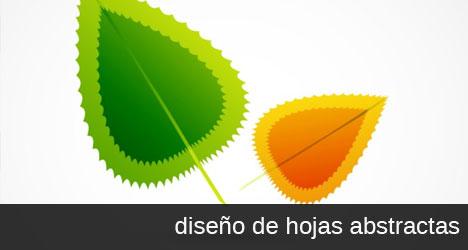 Vector de hojas de árbol verde y naranja EPS