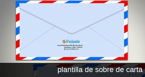 Plantilla con sobre de carta de ambos lados PSD