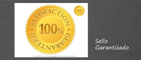 Plantilla de sello garantizado 100% PSD