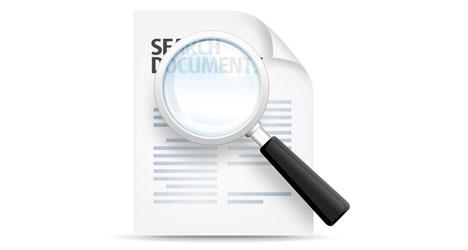 4a47af6f6168b Plantilla de lupa para buscar documentos PSD