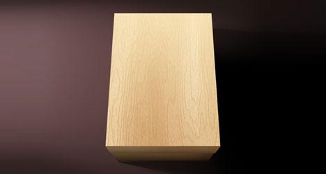 Plantilla de bloque de madera PSD