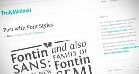 TrulyMinimal: Plantilla minimalista para WordPress