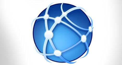 Plantilla globo mundial de comunicaciones PSD