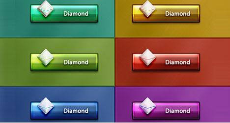 Botones Diamantes con Efecto Glossy