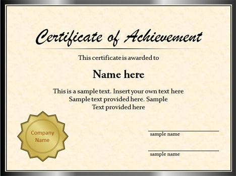 Plantilla de Certificado para PowerPoint