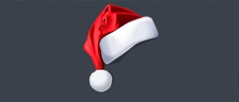 Sombrero de Navidad PSD para Photoshop