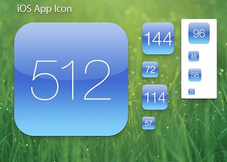 Plantilla de ícono de iOS App