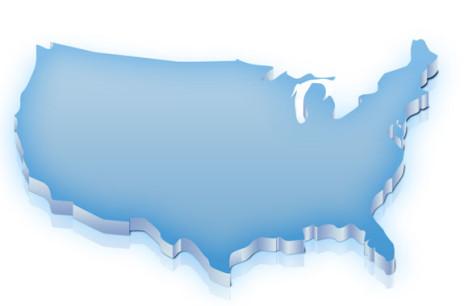 mapa estados unidso